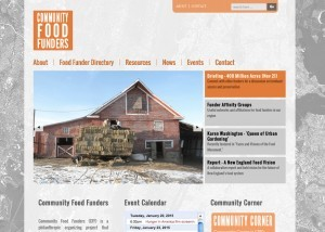 Screenshot of CFF homepage